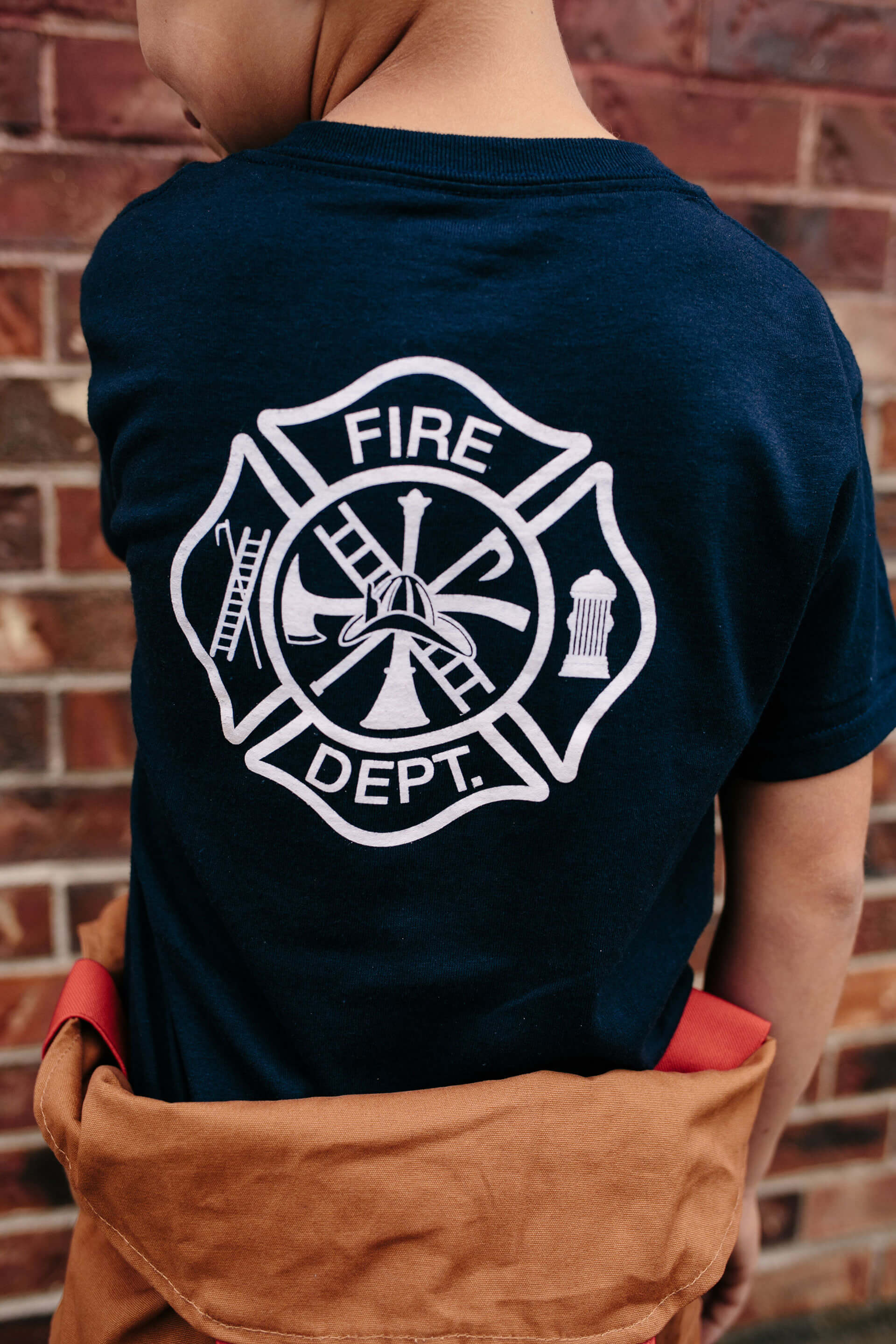 de2c55a1f Black, Navy, or Red with fire service Maltese cross screen-printed on the  back and Little Hero badge on the front left chest. S, M, L. 5.6-ounce, ...